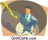 Vector Clipart graphic  of a End of the rope