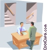 man talking to boss Vector Clip Art picture