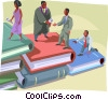 Vector Clipart illustration  of a Career people rising up