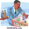Vector Clipart illustration  of a human resources throughout a business