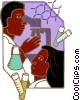 Vector Clip Art image  of a science