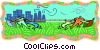 business metaphors, tug-of-war Vector Clipart picture