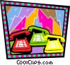 Vector Clip Art image  of a business communications