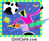 space and spaceship Vector Clipart picture