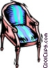 An antique chair Vector Clip Art picture