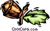 Vector Clip Art image  of an acorn
