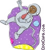 Vector Clip Art image  of a space travel