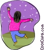 Vector Clip Art graphic  of a reaching for the stars