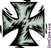 Vector Clipart image  of a iron cross