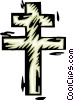 Vector Clipart illustration  of a French cross
