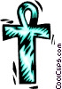 Vector Clip Art picture  of a cross