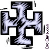 iron cross Vector Clip Art graphic
