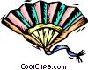 Vector Clip Art image  of a decorative fan