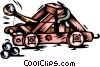 Vector Clip Art picture  of a Catapult