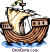 Vector Clip Art graphic  of a Large sailboat