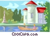 European castle Vector Clip Art picture