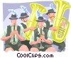 Oompah band Vector Clip Art picture