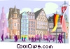 European village Vector Clipart picture