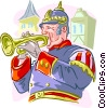 Vector Clip Art graphic  of a European Musician