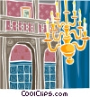 Vector Clipart graphic  of a European chandelier