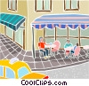 street cafe scene Vector Clipart illustration