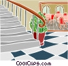 Vector Clip Art graphic  of a circular staircase