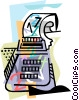 Vector Clip Art graphic  of an Adding machine