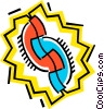 symbol of telephones Vector Clip Art picture