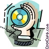 Vector Clip Art graphic  of a Compact Disk in hand
