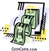 Vector Clipart graphic  of a Money as day pages