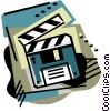 Vector Clipart illustration  of a Disk/clapper