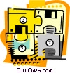 Vector Clipart picture  of a Disk puzzle