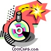 Compact Disk bomb Vector Clipart illustration