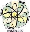 money as the center of the universe, atom Vector Clipart picture
