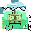 Portrait of money Vector Clipart illustration