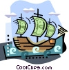 Vector Clip Art image  of a Boat with money sales