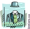 Vector Clip Art image  of a Invisible figure with money