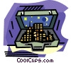Vector Clipart picture  of a City in briefcase