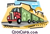 Money truck Vector Clip Art image