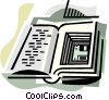 Book with computer disk Vector Clip Art image