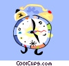 Vector Clipart illustration  of a modern alarm clock symbol