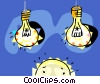 Vector Clip Art picture  of a Light sources