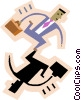 Vector Clipart image  of a symbol of man with briefcase