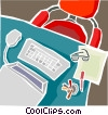Vector Clipart illustration  of a Office equipment