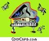 Vector Clipart picture  of a Piano