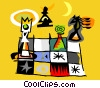 Vector Clipart graphic  of a Chess board