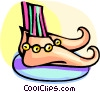 funny looking shoes Vector Clip Art graphic