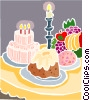 Vector Clipart illustration  of a Candle light dinner