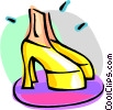 Vector Clip Art image  of a groovy shoes