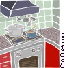 Vector Clipart picture  of a kitchen stove